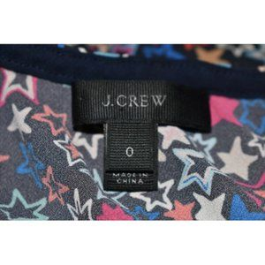 J. Crew Tops - J.CREW NEW Jacuzzi One-Shoulder Star Print Top